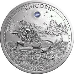 Cameroon 2012 1000 Francs Unicorn Opal Gemstone Unicorn Series Proof Silver Coin :: Top World Coins