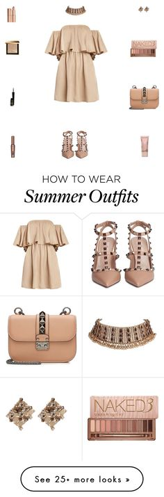 """Contest: Beige Summer Chic Outfit"" by billsacred on Polyvore featuring Valentino, Lanvin, Burberry, Charlotte Tilbury, Urban Decay and Benefit"