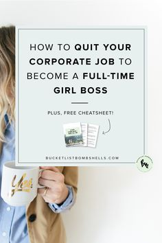 From Corporate Financial Analyst to Launching Her Own Online Branding Studio: Find out how this 20-something quit her corporate job to become a full-time girl boss (in one month!) in our latest blog post!