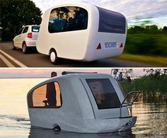 Sealander Amphibious Camping Trailer #technology #trailer #camping