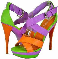 Kiss&Tell Lillian-03 Orange Women Platform Sandals