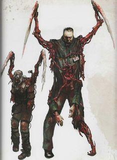Monster Concept Art, Alien Concept Art, Monster Art, Dead Space, Dark Creatures, Fantasy Creatures, Arte Horror, Horror Art, Zombies Zombies