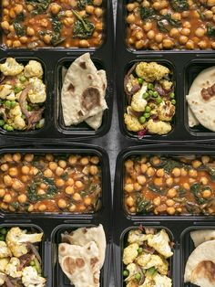This week's Curried Chickpeas Meal Prep is a filling and flavorful vegetarian meal with a vegan option. BudgetBytes.com