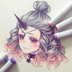 My astrology drawings anime art, drawings и art. Copic Kunst, Copic Art, Marker Kunst, Marker Art, Art And Illustration, Beautiful Drawings, Cute Drawings, Anime Kunst, Anime Art