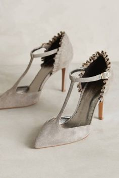 Shop unique high heels from Anthropologie for your essential pumps, kitten heels and more. Latest Shoe Trends, Latest Shoes, Jimmy Choo, Shoe Boots, Shoes Sandals, Dress Shoes, Christian Louboutin, Peep Toe, T Strap Shoes