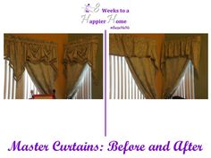 Quick and Easy valance makeover