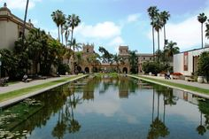 Balboa Park Reflecting Pool.  San Diego Ca.  The most photographed spot in Balboa Park.