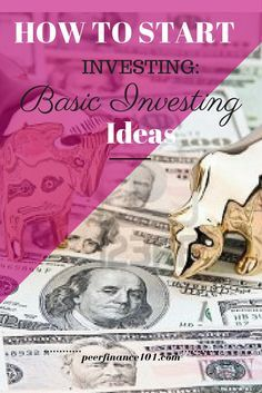 How to start investing: Basic Investing ideas: Yes finally a investing for beginners post that I actually understand! Read this post today if you want to know  how to start investing with these basic investment ideas around diversification and life stage investing. Great detailed post. http://peerfinance101.com/how-to-start-investing-basic-investment-ideas/