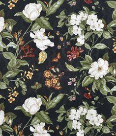 Shop Waverly Garden Images Black Fabric at onlinefabricstore.net for $19.55/ Yard. Best Price & Service.