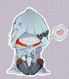 I drew another character from an otome game... These games really took over my life. This time it is chibi ghost Nicky from Niflheim((from Shall we date? serie))! Man, he is way too awesome and cut...