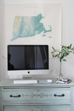 Soothing work space.