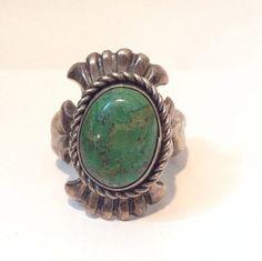 Navajo Turquoise Ring / Vintage Native by AntiqueJewelryForFun