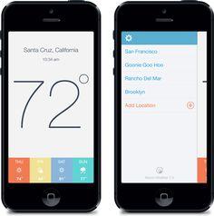Kelvin Weather App by Eric Hoffman. 25 Stunning #Mobile #UI Examples