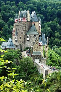 Burg Eltz Castle	, Germany, in the hills above the Moselle River between Koblenz and Trier
