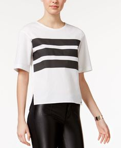 Armani Exchange Striped High-Low Top
