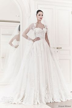 zuhair murad wedding dresses 2014 bridal allegra strapless ball gown