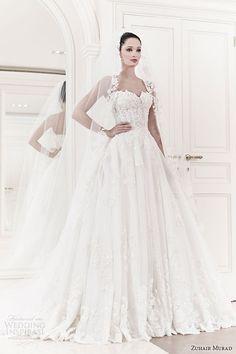 zuhair murad wedding dresses 2014 bridal allegra strapless ball gown