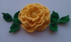 Hand crocheted rose by smileyface21 on Etsy, $9.00