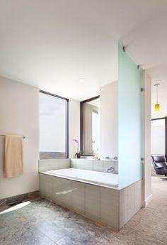 hanging glass divider on tub/shower