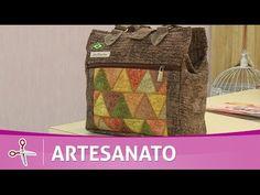 Vida com Arte | Bolsa de passeio em patchwork por Ana Cosentino - 01 de Novembro de 2016 - YouTube