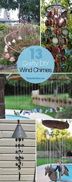 13 Crafty DIY Wind Chimes Lots of Ideas and Tutorials! 13 Crafty DIY Wind Chimes Lots of Ideas and Tutorials! Outdoor Crafts, Outdoor Projects, Suncatchers, Diy Projects To Try, Craft Projects, Carillons Diy, Fun Crafts, Diy And Crafts, Diy Wind Chimes