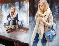 Sheinside  Sweater, Goodnight Macaroon Top, Banggood  Denim Pants, Banggood  Backpack, Timberland  Boots