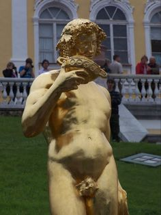 Statue on the Grand Cascade Fountain Peterhof Palace Russia