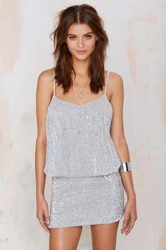 Glamorous La Flavour Sequin Skirt: