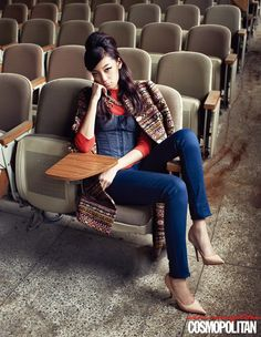 Choi Junyoung and Jin Jungsun by Kim Youngjun for Cosmopolitan Korea Nov 2012