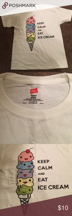 e996cd1d NWOT Medium T-Shirt NWOT Keep Calm and Eat Ice Cream Medium T-Shirt.  Perfect for someone who loves Ice-cream. Hanes Tops Tees - Short Sleeve