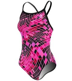 TYR Pink Disco Inferno Diamonfit #swimoutlet