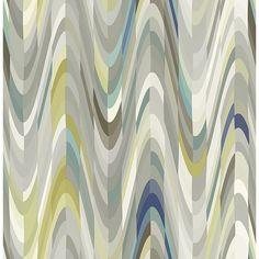 2656-004011 - Aurora Blue Geometric Wave - by A-Street Prints