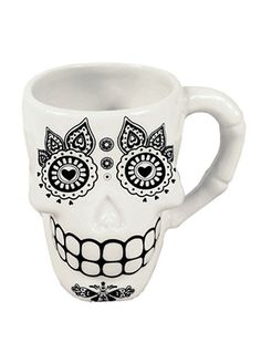 Sweet Sips Sugar Skull Mug at ShopPlasticland.com