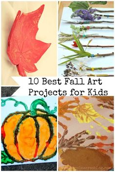 Today I have the 10 Best Fall Art Projects for Kids to share! These projects are fun to make with a little one and beautiful too!