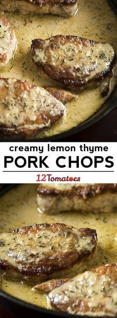 Lemon Thyme Pork Chops