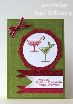 Happy hour christmas card stepped up - Stampin' Up!