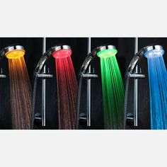 Somehow I feel like I need these :) LED Showerhead