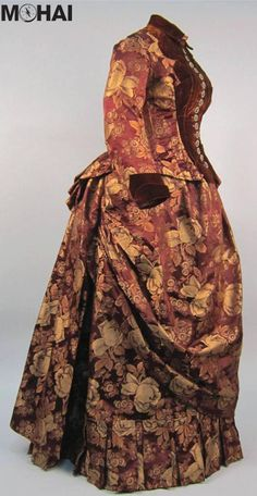 Late 1880s bustle gown, Museum of History & Industry, Seattle WA #Bustle #1880sFashion #FashionCollection