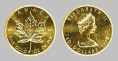 Canadian 24K Gold Maple Leaf Coins