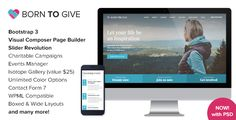 Born To Give - Charity Crowdfunding Responsive WordPress Theme