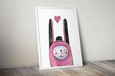 Rabbit and Magic Watercolor Set by Bibela on @creativemarket