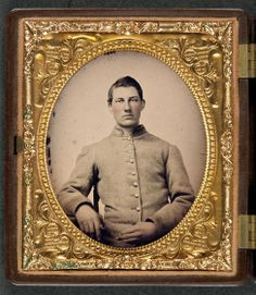 Unidentified soldier in Confederate uniform  Liljenquist Family Collection of Civil War Photographs at Library of Congress.