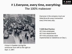 #1. Everyone, every time, everything: The 100% makeover