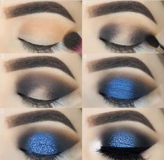 52 Natural Eye Makeup Step by Step for Beginners - - Simple Eye Ma . - 52 Natural Eye Makeup Step by Step for Beginners – – Simple Eye Makeup Tutorial Step by Step for Beginners, Eye Makeup Looks Ideas, Mak – # Beginners # Beginners # for Dramatic Eye Makeup, Eye Makeup Steps, Beautiful Eye Makeup, Simple Eye Makeup, Blue Eye Makeup, Makeup Eyeshadow, Blue Eyeshadow For Brown Eyes, Blue Smokey Eye, Blue Eye Shadow