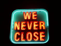 """A neon """"Open"""" sign from a limited series of signs made for Pegasus and Pendragon… Neon Licht, Neon Words, All Of The Lights, Neon Aesthetic, Neon Glow, Neon Lighting, Images Gif, Vintage Signs, Light Up"""