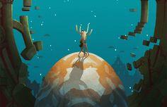 Finas, detalladas y sutiles ilustraciones animadas creadas por la ilustradora neoyorquina Rebecca Mock.