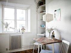 Dining for two in a swedish space