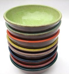 i like these because they have a modern feel but have an organic sensibility!  120$  lynn cardwell pottery on etsy