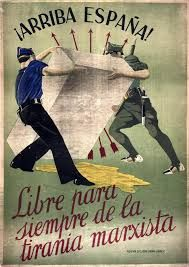 Propaganda poster from the Spanish Civil War, Ww2 Propaganda Posters, Protest Posters, Political Posters, Map Of Spain, Spanish War, National Archives, Military History, Japan, Dieselpunk