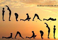 Асаны циклического комплекса упражнений Сурья Намаскар